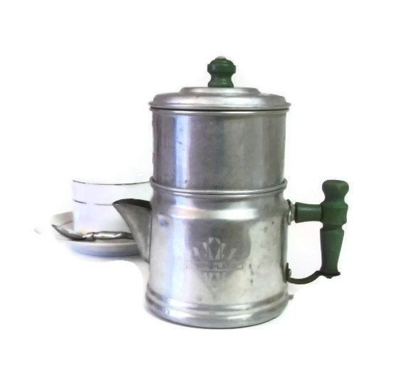 how to clean aluminum coffee pot