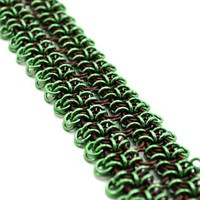 Green and Bronze Cuff Chainmaille Bracelet