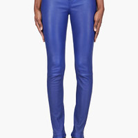 Marc By Marc Jacobs Indigo Mirah Leather Leggings for women | SSENSE
