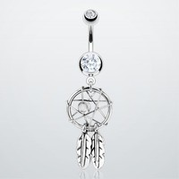 Dream Catcher Fancy Belly Ring