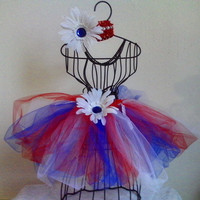 Red, white, & blue Tutu and Headband set