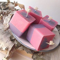 Cotton Candy scented Soy Votive Candles - Hand Poured Soy Candles -- (4)2 ounce Votives