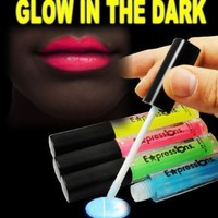 Glow In The Dark Lip Gloss 4-Piece Set AL#GG10911:Amazon:Everything Else
