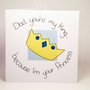Greeting Card - Dad you're my King... Birthday Card - Father's Day Card