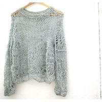 Loose Knit Sweater by munamiu on Etsy