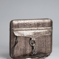 Rebecca Minkoff bronze python embossed leather iPad case | BLUEFLY up to 70 off designer brands