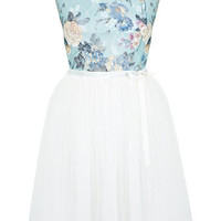 Floral Print Lace Tutu Dress - Dresses  - Clothing