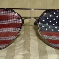 American Flag Aviator Sunglasses Glasses:Amazon:Everything Else