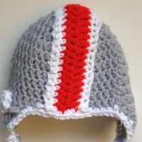 Ohio State Buckeyes Crochet Baby Sports Hat Beanie College Football OSU Infant