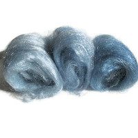 Hand Dyed Firestar Shades of Blue Three by flickertailfibers