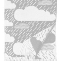 Donna Wilson Rainy Day Throw Cloud Print Blanket | LEIF