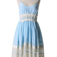 Got A Date Blue Lace Dress