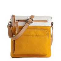 Kelly &amp; Katie Color Block Cross Body Bag
