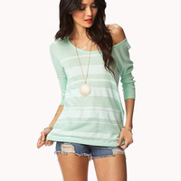 Boxy Striped Sweater | LOVE21 - 2061647124