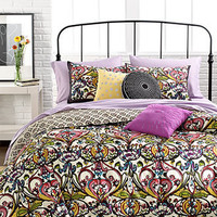 Mosaic Damask 3 Piece Duvet Cover Sets - Teen Bedding - Bed &amp; Bath - Macy&#x27;s
