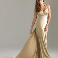 2012 Sexy Satin Straps Beading Ruching A-line Evening Dress [dd3809] - £67.29 : dressdeals.co.uk!, discount wedding dresses sale