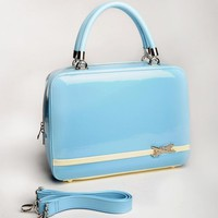Aeroplane Bag in Sky Blue | Pinup Girl Clothing