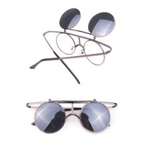 Retro Steel Frame Sunglasses