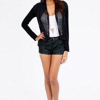 Laser Beamed Drape Cardigan $48