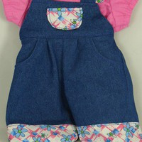 "15"" Doll Overalls 2-piece set for a Girl Doll"