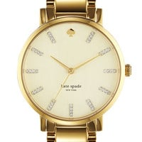 kate spade new york &#x27;gramercy&#x27; round bracelet watch | Nordstrom