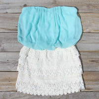 Laced Aura Dress in Mint, Sweet Women&#x27;s Bohemian Clothing