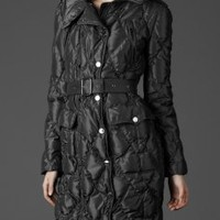 Burberry LONG MILITARY PUFFER JACKET - Quilts &amp; Puffers