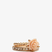 Carved Rose Ring Set | FOREVER 21 - 1011409062