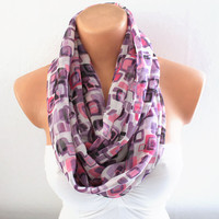 Infinity Scarf Loop Scarf Circle Scarf Purple Scarf Cowl Scarf Soft and Lightweight