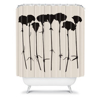 DENY Designs Home Accessories | Garima Dhawan Carnations Black Shower Curtain