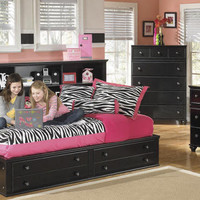 Platt Grove Black Big Bookcase Captains Bed