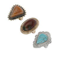 Antique Stone Ring Pack - New In This Week  - New In