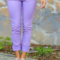 What A Girl Wants Pants: Lavender | Hope&#x27;s