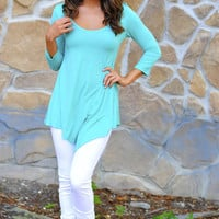 Comfort Is Key Tunic: Sea Green | Hope's