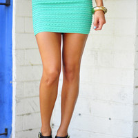 Short Sweet &amp; To The Point Skirt: Sea Green | Hope&#x27;s