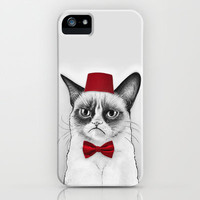 Grumpy Cat Dr Who Tard Portrait iPhone & iPod Case by Olechka