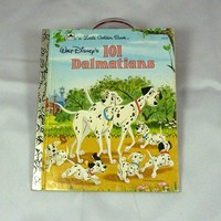 Walt Disneys 101 Dalmatians Vintage Little Golden Book 1991 very good