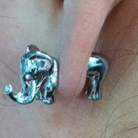 Neon Fashion 3D Elephant Single Ear Stud