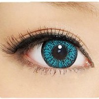 GEO Color Nine Aqua Colored Circle Contacts