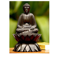 Meditating Buddha On Lotus Wood Sculpture Novica Decorative Objects Decorative Accessories