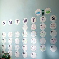 Daily Dot Dry-Erase Calendar Wall Decal
