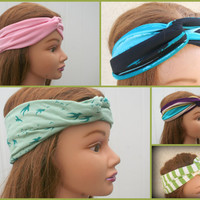 Turban Headband Stretchy  Cotton Headbands  Workout  Fashion Hair Bands Women  Fashion-By PiYOYO