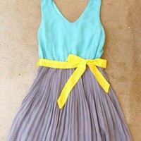 Clearwater Colorblock Dress in Mint [2540] - $33.60 : Vintage Inspired Clothing &amp; Affordable Fall Frocks, deloom | Modern. Vintage. Crafted.