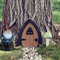 Gnome doors, Fairy Doors, Faerie Doors, Elf Doors, 9 inch. | NothinButWood - Dolls &amp; Miniatures on ArtFire