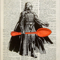 Star wars geekery, Star wars art print, Star wars geek, Darth vader, Geek Gift for Husband, Book Art Decor- Darth Vader got a new lightsaber