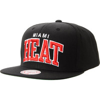 NBA Mitchell And Ness Miami Heat Black Snapback Hat