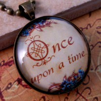 Fairy Tale Glass Tile Necklace | bluerosebeads - Jewelry on ArtFire