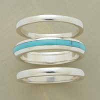 STREAK OF TURQUOISE RING TRIO