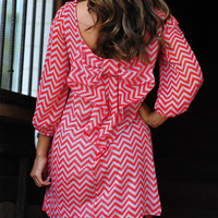 Can&#x27;t Resist It Bow Dress: Red/Grey | Hope&#x27;s