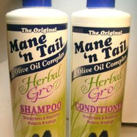 Mane &#x27;n Tail Herbal Gro Shampoo &amp; Conditioner Olive Oil Complex 12 oz:Amazon:Everything Else